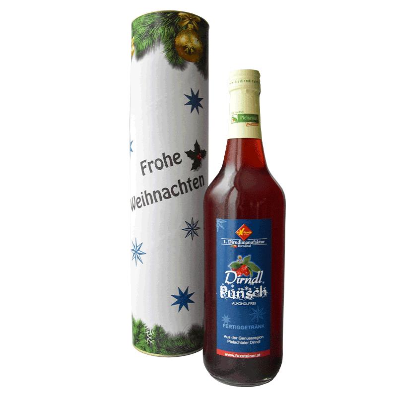 Geschenkrolle Weihnachtsedition mit Dirndlpunsch alkoholfrei 0,7 Liter (Nr. 22)