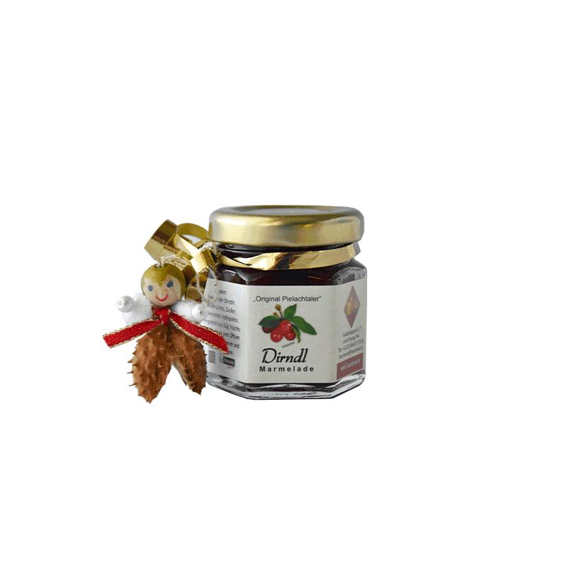 Dirndl-Marmelade klein mit handgefertigtem Engerl (Nr. 25)