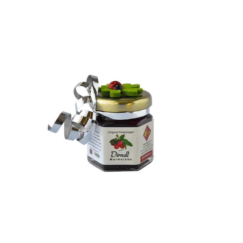 Dirndl-Marmelade klein mit Kleeblatt (Nr. 27)